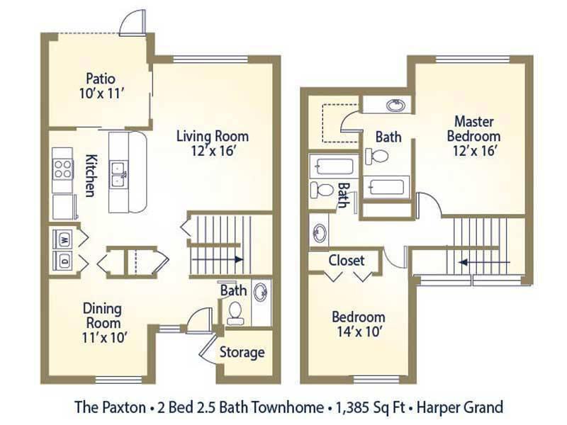 The Paxton - 2 Bedroom / 2.5 Bathroom Image