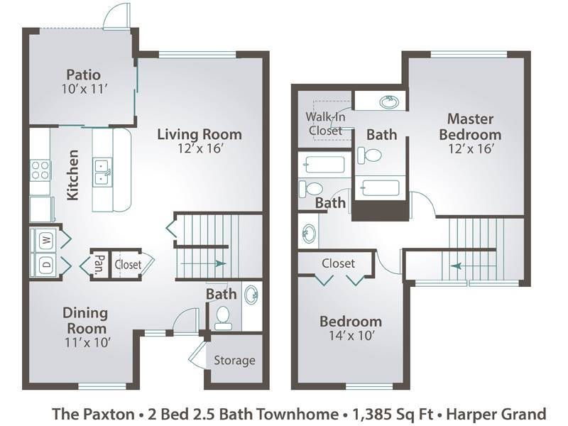 The Paxton - 2 Bedroom / 2.5 Bathroom Image