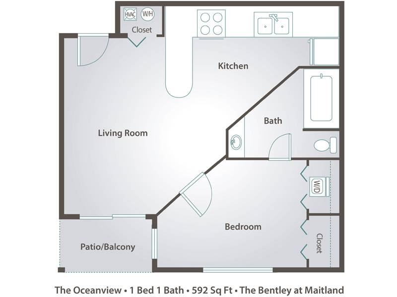 The Oceanview - 1 Bedroom / 1 Bathroom Image