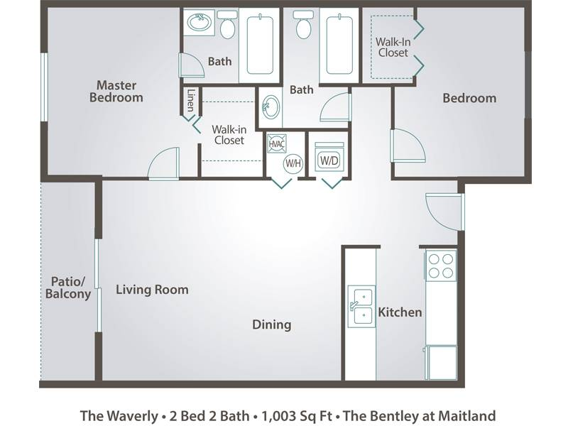 The Waverly - 2 Bedroom / 2 Bathroom Image