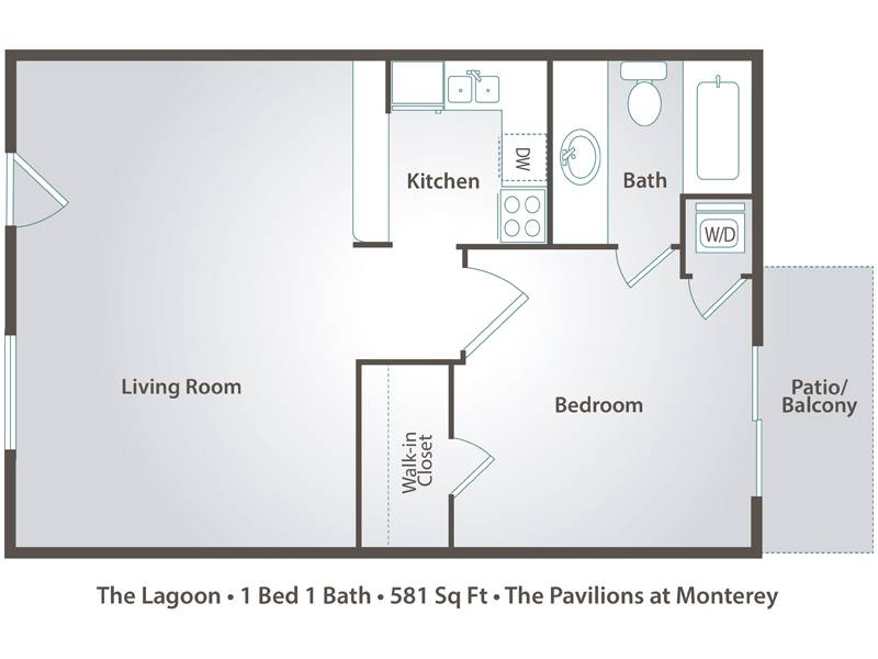 The Lagoon - 1 Bedroom / 1 Bathroom Image