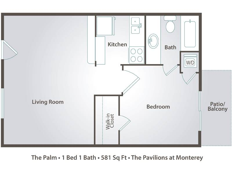 The Palm - 1 Bedroom / 1 Bathroom Image