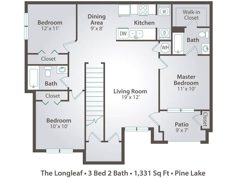 The Longleaf - 3 Bedroom / 2 Bathroom Image