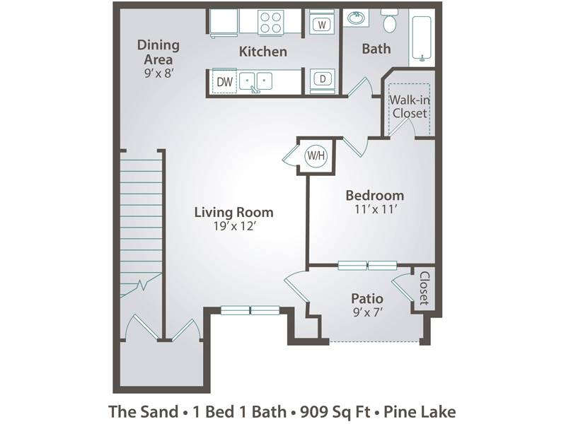 The Sand - 1 Bedroom / 1 Bathroom Image