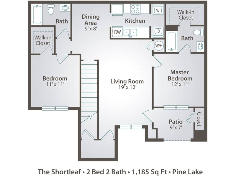 The Shortleaf - 2 Bedroom / 2 Bathroom Image