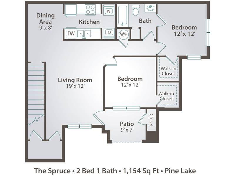 The Spruce - 2 Bedroom / 1 Bathroom Image