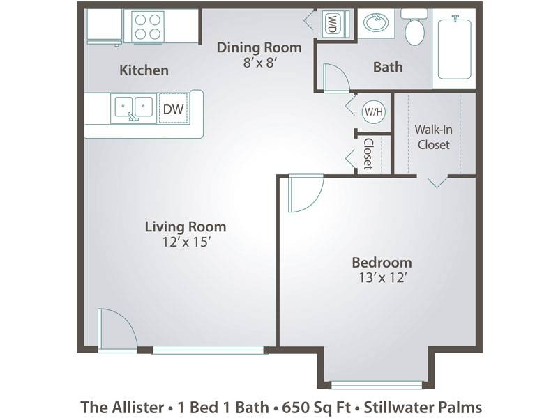 The Allister - 1 Bedroom / 1 Bathroom Image