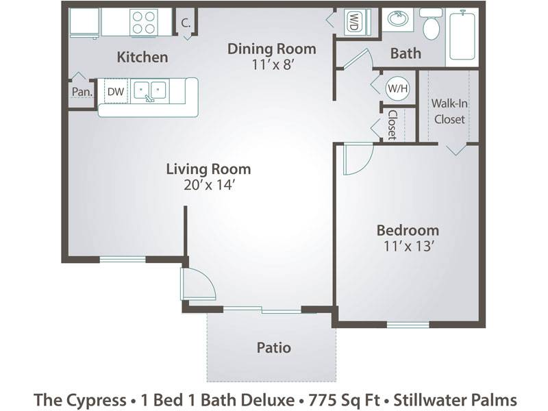 The Cypress - 1 Bedroom / 1 Bathroom Image