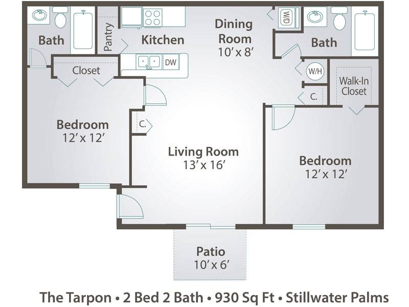 The Tarpon - 2 Bedroom / 2 Bathroom Image