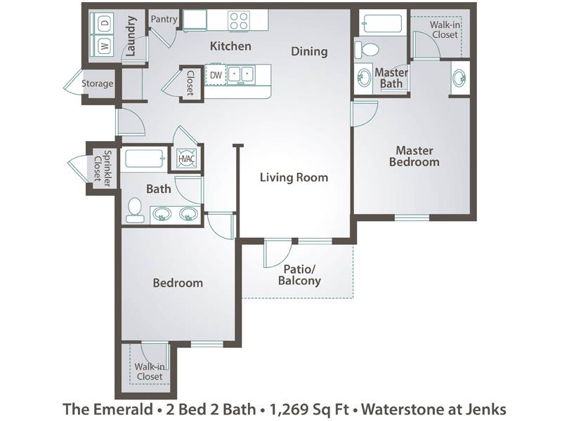 The Emerald - 2 Bedroom / 2 Bathroom Image