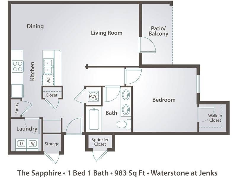 The Sapphire - 1 Bedroom / 1 Bathroom Image