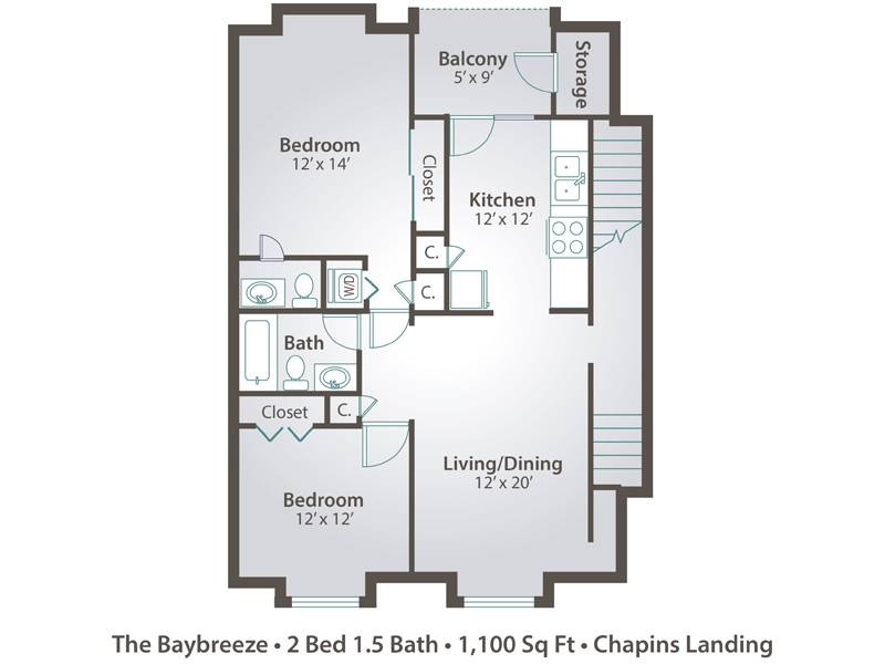 The Baybreeze - 2 Bedroom / 1.5 Bathroom Image