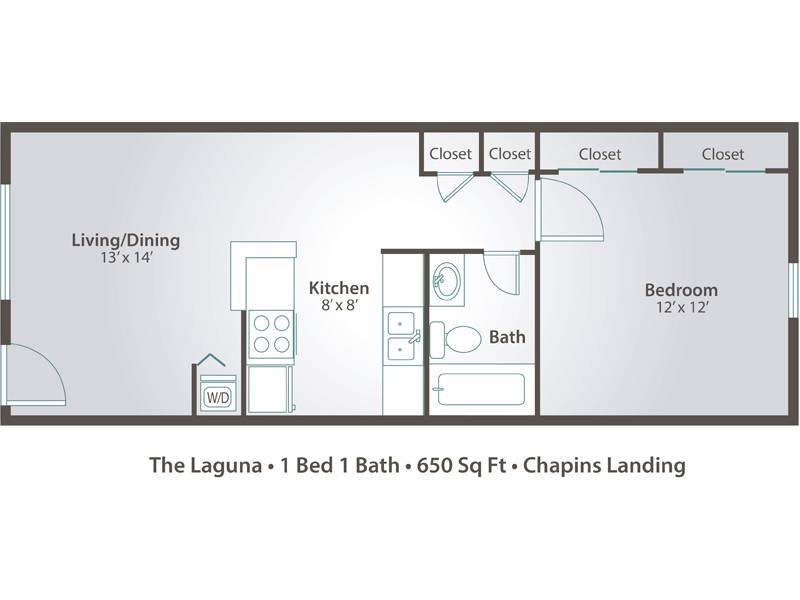 The Laguna - 1 Bedroom / 1 Bathroom Image