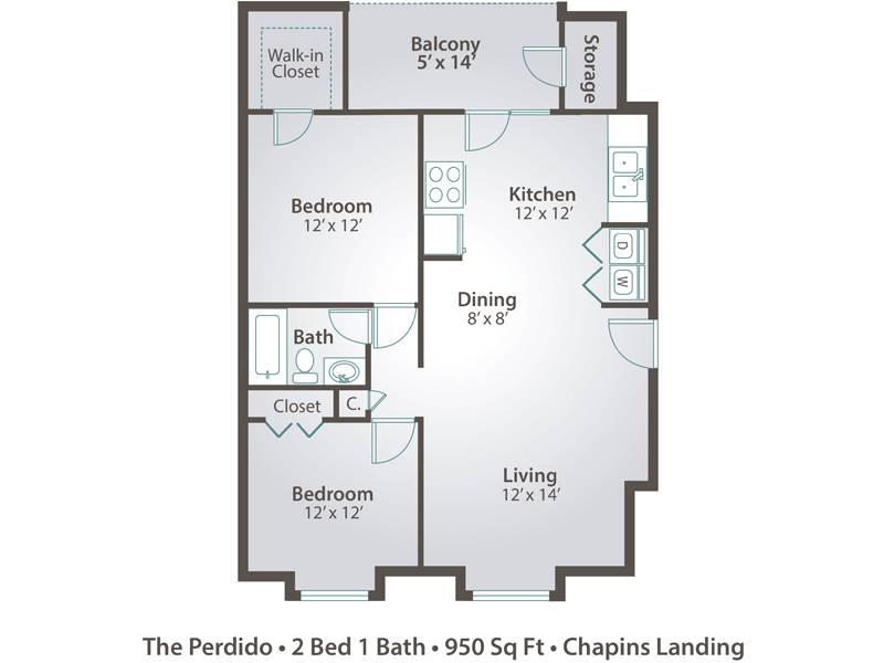 The Perdido - 2 Bedroom / 1 Bathroom Image