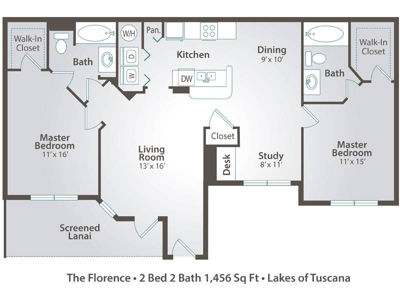 The Florence - 2 Bedroom / 2 Bathroom Image