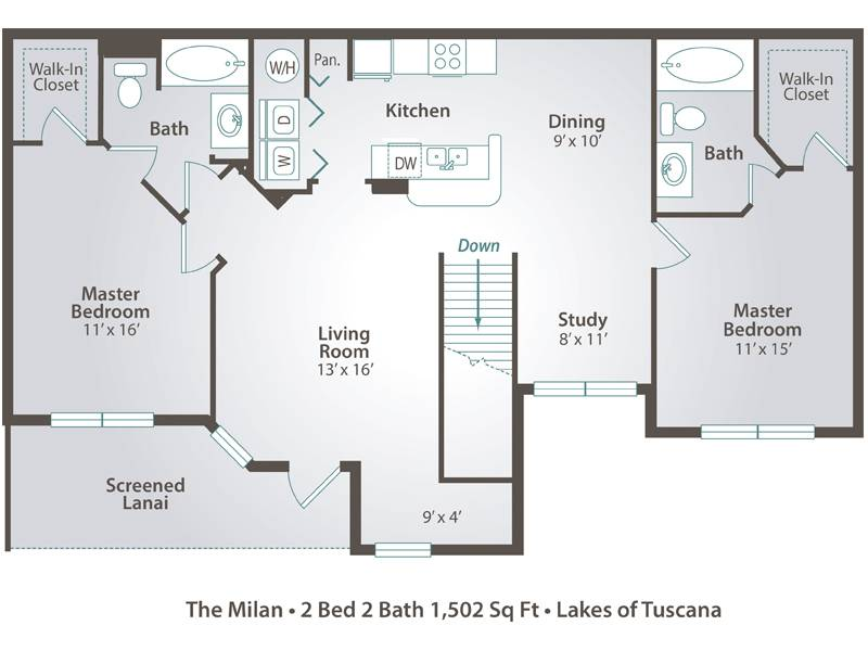 The Milan - 2 Bedroom / 2 Bathroom Image