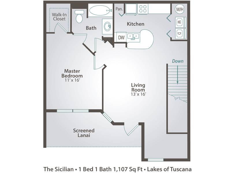 The Sicilian - 1 Bedroom / 1 Bathroom Image