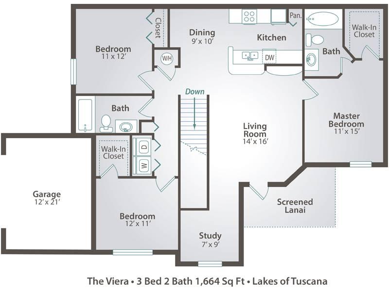 The Viera with Garage - 3 Bedroom / 2 Bathroom Image