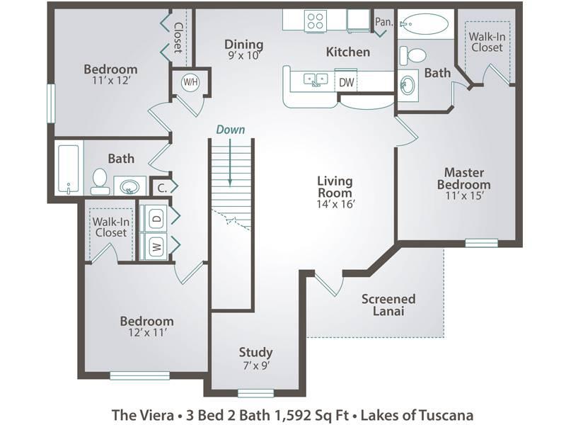 The Viera - 3 Bedroom / 2 Bathroom Image