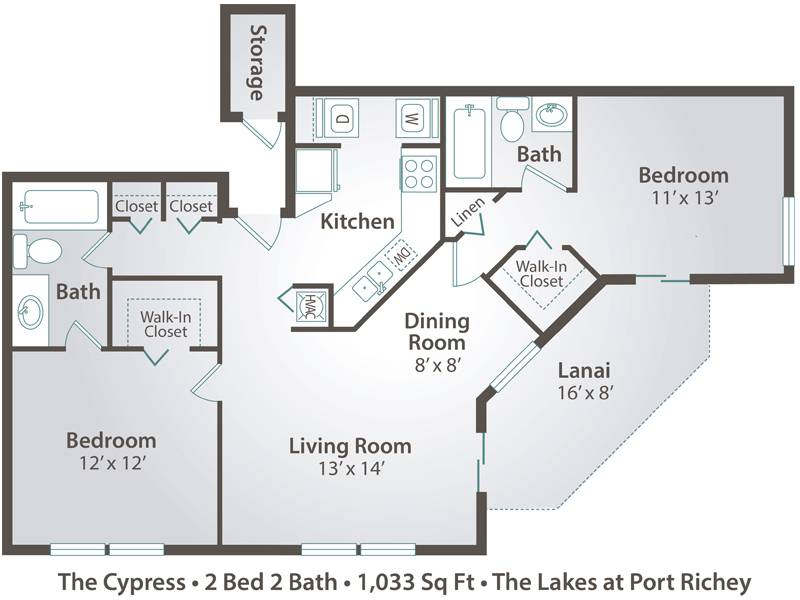 The Cypress - 2 Bedroom / 2 Bathroom Image