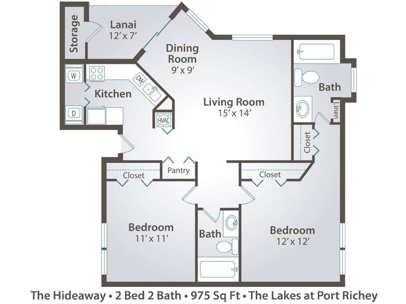 The Hideaway - 2 Bedroom / 2 Bathroom Image