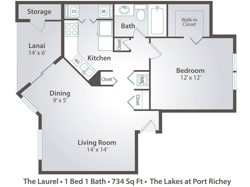 Apartment floor plans pricing the lakes at port richey The laurels floor plan