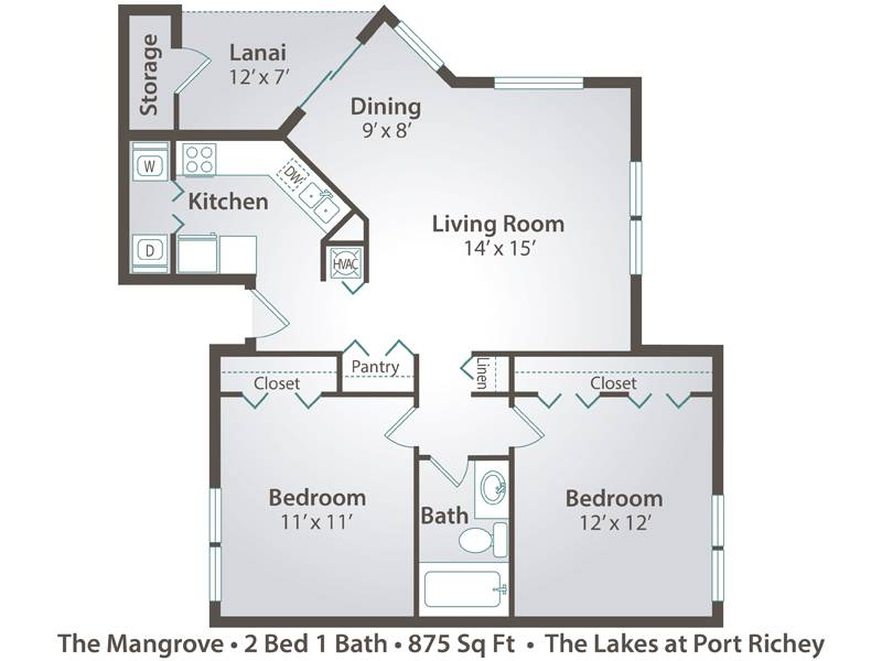The Mangrove - 2 Bedroom / 1 Bathroom Image
