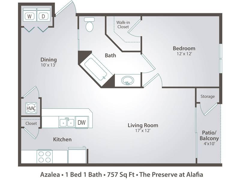 Azalea - 1 Bedroom / 1 Bathroom Image