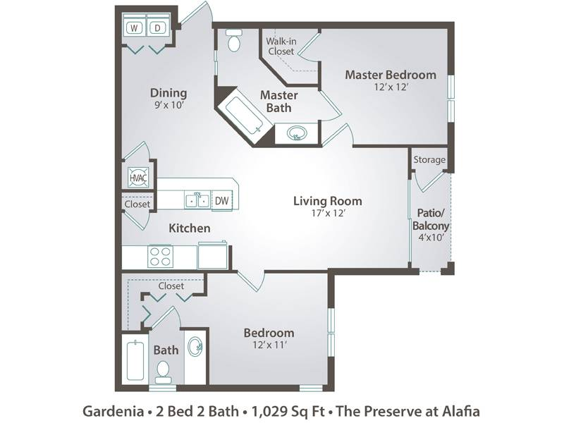 Gardenia - 2 Bedroom / 2 Bathroom Image