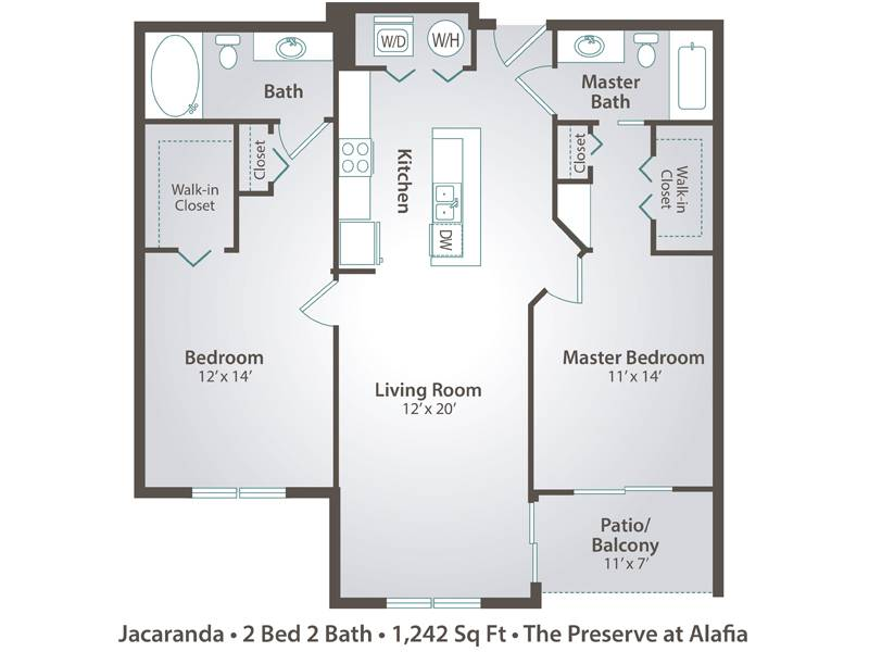 Jacaranda - 2 Bedroom / 2 Bathroom Image