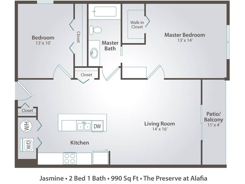 Jasmine - 2 Bedroom / 1 Bathroom Image