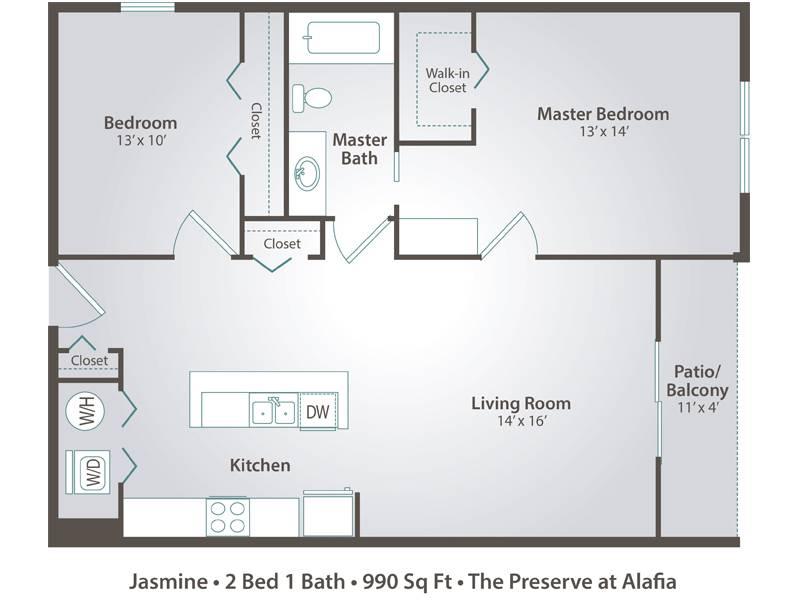 Jasmine - 2 Bedroom / 1 Bathroom Image
