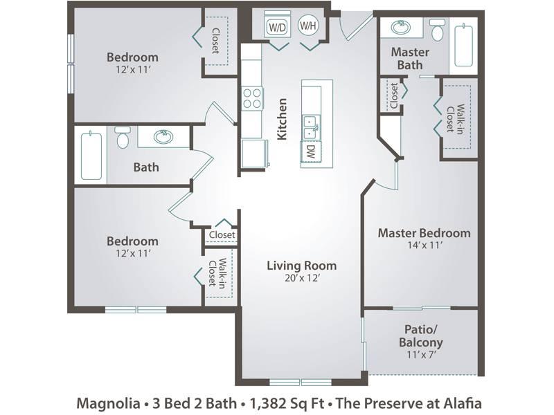 Magnolia - 3 Bedroom / 2 Bathroom Image
