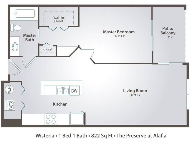Wisteria - 1 Bedroom / 1 Bathroom Image