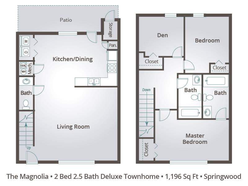 The Magnolia - 2 Bedroom / 2.5 Bathroom Image