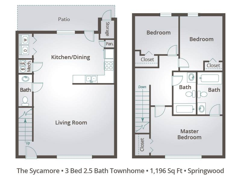 The Sycamore - 3 Bedroom / 2.5 Bathroom Image
