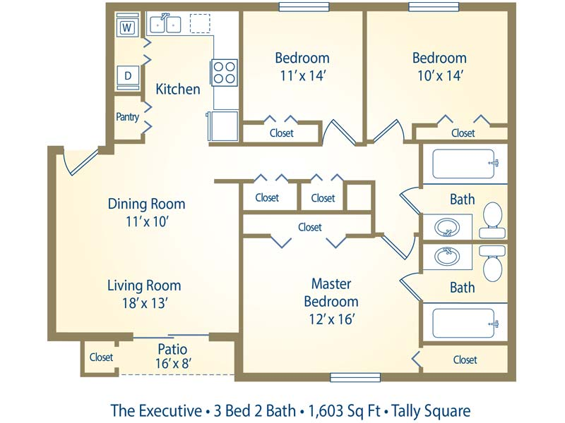 Apartment floor plans pricing tally square 3 bedroom open floor plan