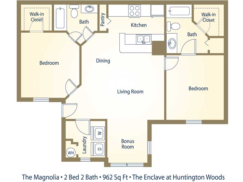 bedroom apartments tallahassee the enclave at huntington woods