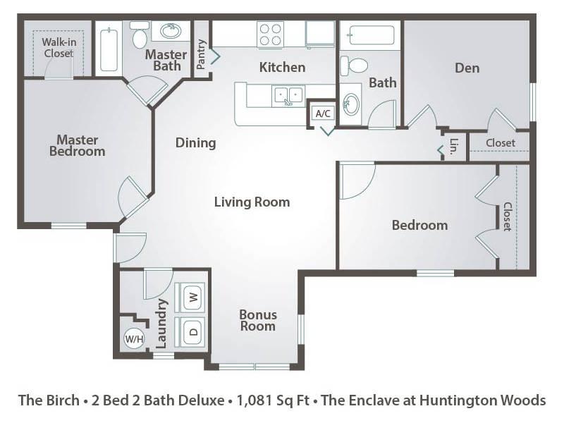 The Birch - 2 Bedroom / 2 Bathroom Image
