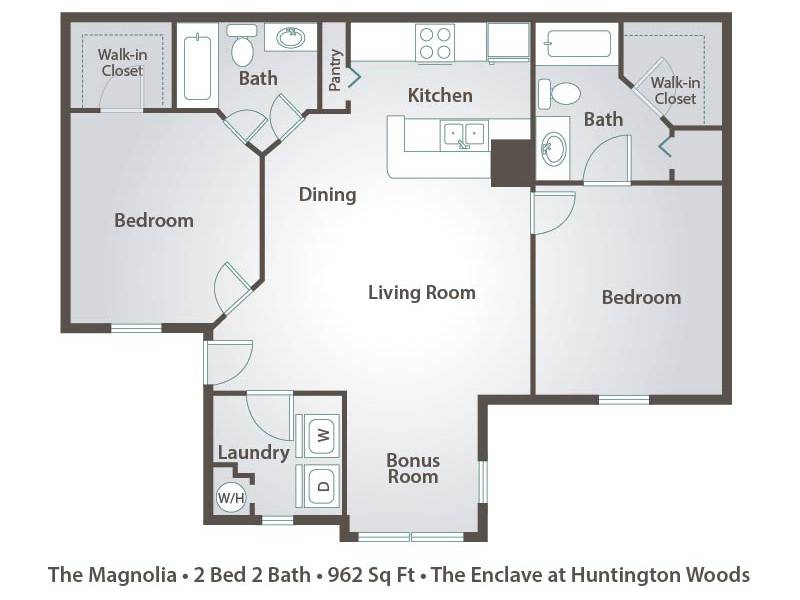 The Magnolia - 2 Bedroom / 2 Bathroom Image
