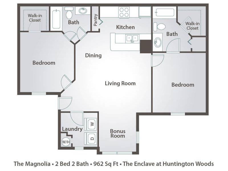The Magnolia - 2 Bedroom / 2 Bathroom Image
