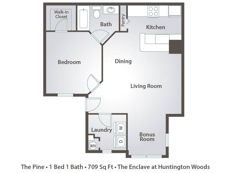 Apartment Floor Plans Pricing The Enclave At Huntington Woods In Tall