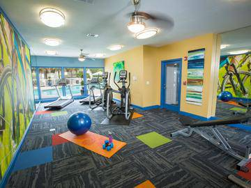 Fitness Center - The Enclave at Huntington Woods - Tallahassee, FL