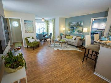 Wood Style Flooring - The Enclave at Huntington Woods - Tallahassee, FL