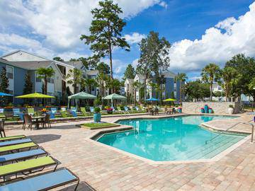 Resort-Style Pool and Sundeck - The Enclave at Huntington Woods - Tallahassee, FL
