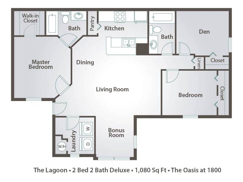 The Lagoon - 2 Bedroom / 2 Bathroom Image