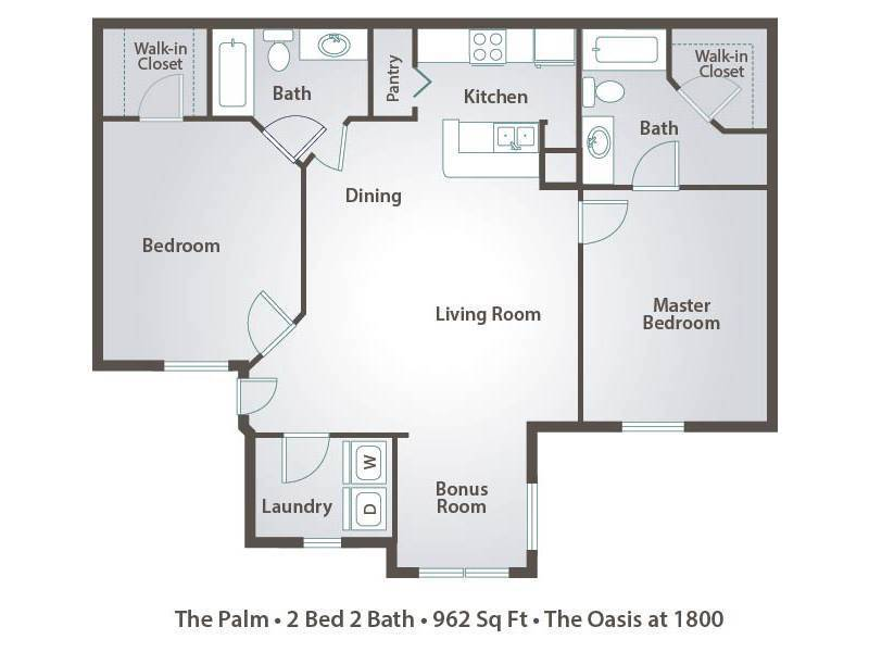 bedroom apartments in tallahassee the oasis at 1800