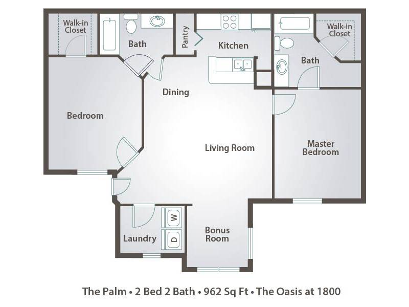 The Palm - 2 Bedroom / 2 Bathroom Image
