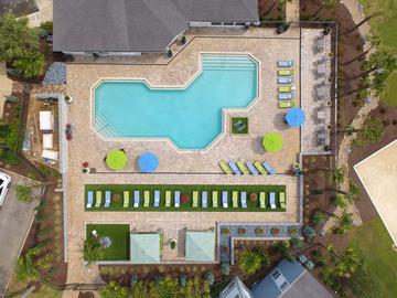 Aerial View of Pool Area - The Oasis at 1800 - Tallahassee, FL