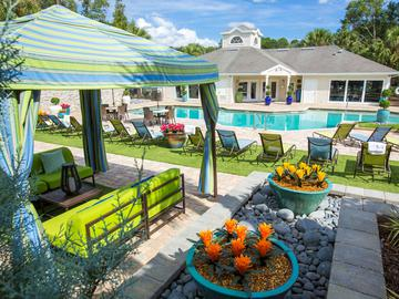 Poolside Landscaping - The Oasis at 1800 - Tallahassee, FL
